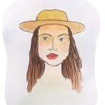 moça chapeu aquarela slide